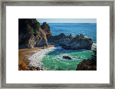 Mcway Falls Julia Pfieffer State Park Framed Print by James Hammond