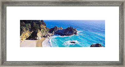 Mcway Falls, Mcway Cove, Julia Pfeiffer Framed Print by Panoramic Images