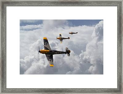 Me 109 - Out Of The Sun Framed Print by Pat Speirs