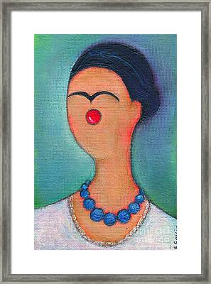 Me And My Blue Pearl Necklace Framed Print by Ricky Sencion