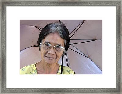 Me And My Brolly 4 Framed Print by Jez C Self