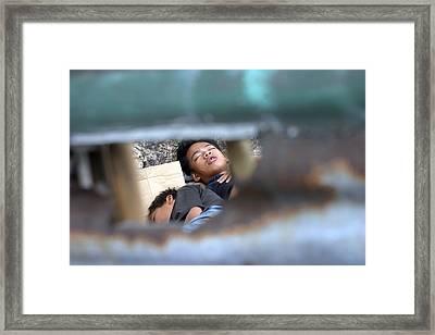 Me And My Brov Framed Print by Jez C Self