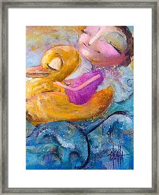 Framed Print featuring the painting Me And My Duckie by Eleatta Diver