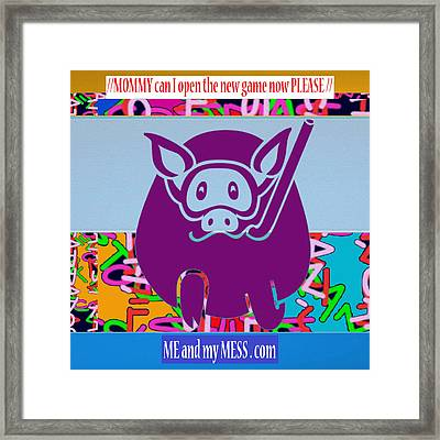 Me And My Mess Dot Com  Kids Room Decorations Framed Print by Navin Joshi