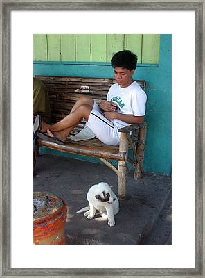 Me And My Pup Framed Print by Jez C Self