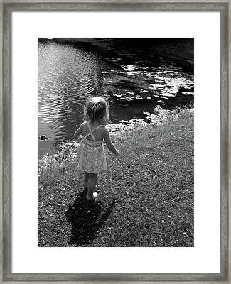 Me And My Shadow Framed Print