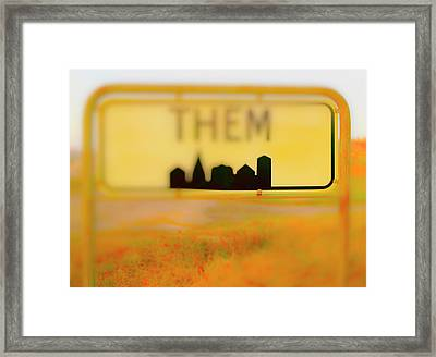 Me And Them Framed Print