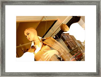 Me Are You Sure Framed Print by Jez C Self