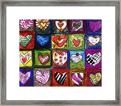 Me Luv Framed Print by Mindy Newman