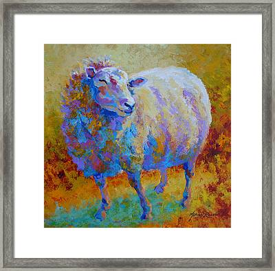 Me Me Me - Sheep Framed Print by Marion Rose
