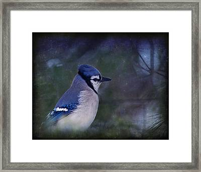 Me Minus You - Blue Framed Print by Evelina Kremsdorf