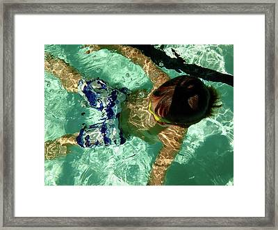Me Time Framed Print