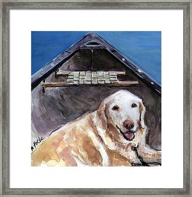 Framed Print featuring the painting Me You Canoe by Molly Poole
