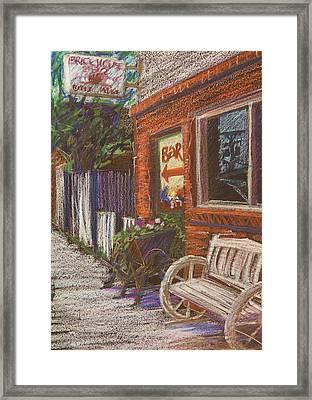 Mead Cafe Framed Print