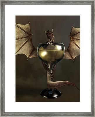 Mead Dragon Framed Print by Daniel Eskridge