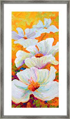 Meadow Angels - White Poppies Framed Print by Marion Rose