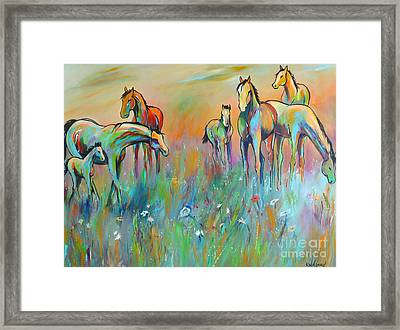 Framed Print featuring the painting Meadow by Cher Devereaux
