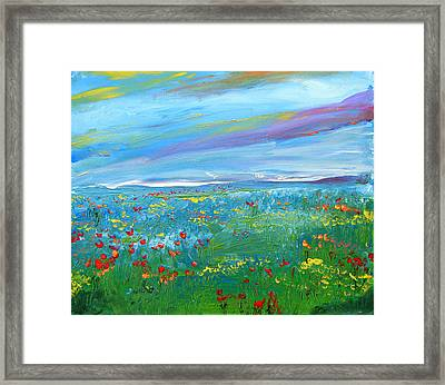 Meadow Drops By Colleen Ranney Framed Print