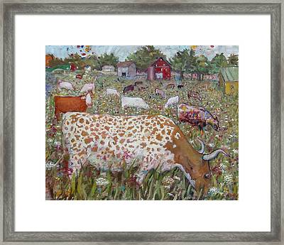 Meadow Farm Cows Framed Print
