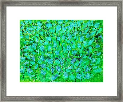 Framed Print featuring the painting Meadow Flowers by Linde Townsend