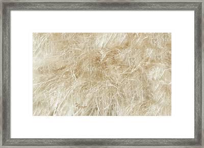 Meadow Fluff Framed Print