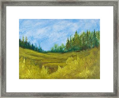 Meadow Framed Print by Eugene Coderre