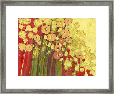 Meadow In Bloom Framed Print by Jennifer Lommers