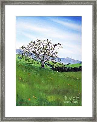 Meadow In Early March Framed Print