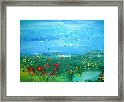 Meadow Pond By Colleen Ranney Framed Print