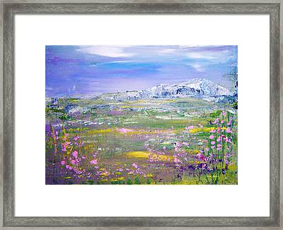 Meadow Sky By Colleen Ranney Framed Print