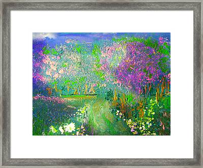Meadow Trail By Colleen Ranney Framed Print