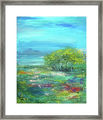 Meadow Trees Framed Print
