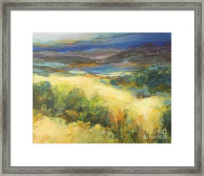 Meadowlands Of Gold Framed Print by Glory Wood