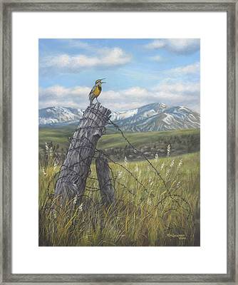 Meadowlark Serenade Framed Print by Kim Lockman