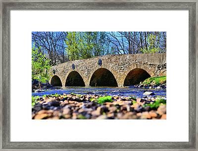 Framed Print featuring the photograph Meadows Road Bridge by DJ Florek