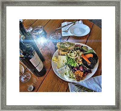 Meal -fit For A King Framed Print by Douglas Barnard
