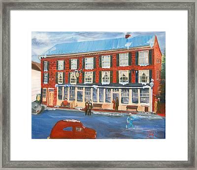 Mealeys Tavern Framed Print by Gloria Condon