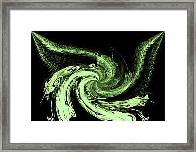 Mean Green Framed Print by Karen Scovill