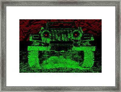 Mean Green Machine Framed Print