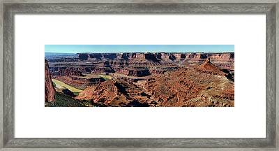 Meander Overlook - Dead Horse Point - Panorama Framed Print by Nikolyn McDonald