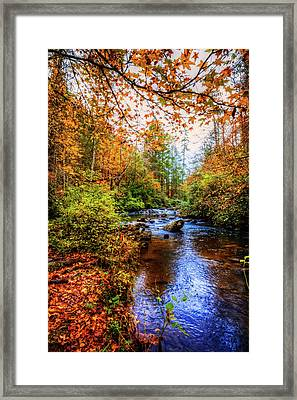 Framed Print featuring the photograph Meandering In The Mountains by Debra and Dave Vanderlaan