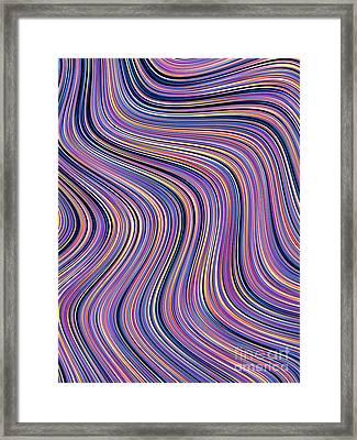 Meandering Framed Print