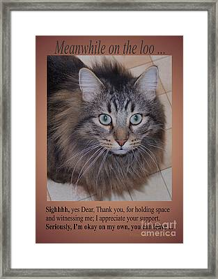 Meanwhile On The Loo Framed Print by Marianne NANA Betts