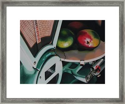 Measured Framed Print by Denny Bond
