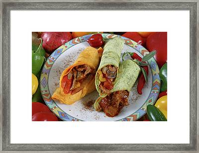 Meat And Vegetable Wrap Framed Print by Jack Dagley