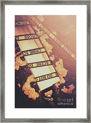 Meat Cleaver At Crime Spot Framed Print by Jorgo Photography - Wall Art Gallery