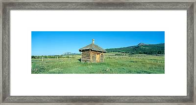 Meat House, Old Dude Ranch, Centennial Framed Print by Panoramic Images