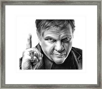 Meat Loaf Framed Print by Greg Joens