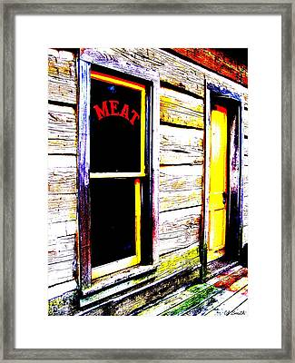 Meat Market Framed Print by Ed Smith