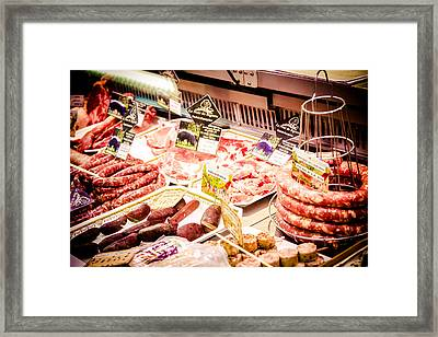 Framed Print featuring the photograph Meat Market by Jason Smith